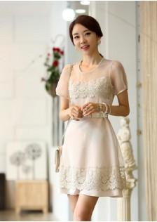 JNS1850 dress creamy