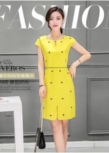 GSS1668 office-dress yellow