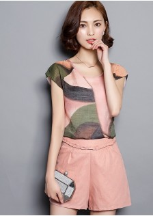 JNS3026 top+pants pink