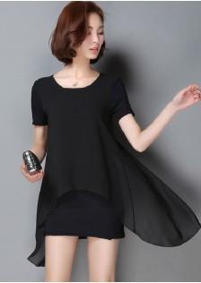 HYB9768 Casual-Dress black $9.80 25XXXX3111335-NU5LV502B