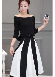 HYB6607 Office-Top+Skirt