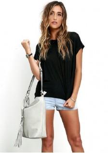 HYB6852 Casual-Blouse black,gray,white $8.90 20XXXX2774971-BY1LVA2-A