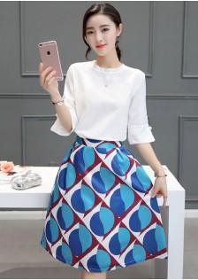 HYB8075 Office-Top+Skirt
