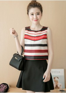 GSS6065 Casual-Top+Skirt