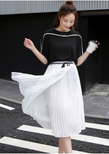 GSS519 Casual-Top+Skirt