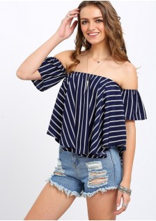 GSS347 Casual-Top blue $13.03 26XXXX2827457-OH8LV825-A
