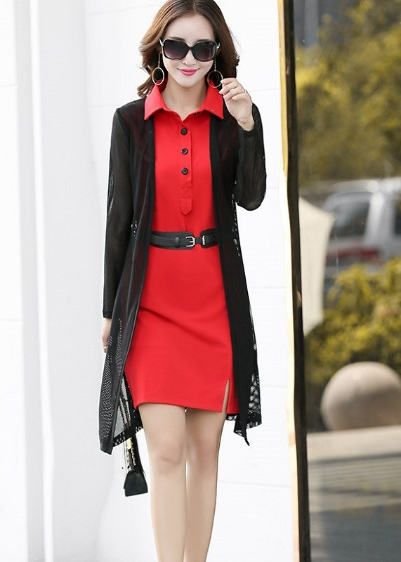 GSS1182 Office-Outer+Dress red,black $18.36 45XXXX3035012-NU3LV328-D