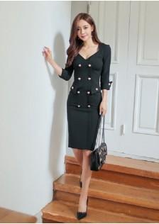 GSS7104 Office-Dress white,black $25.92 79XXXX3679082-LA1LVE49-A