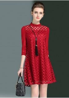 GSS1831 Office-Dress red,black $21.70 60XXXX3946616-LA2LVA19-B1