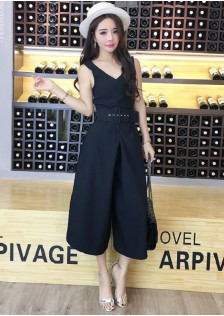 GSS3048 Casual-Jumpsuit black,stripe $17.25 40XXXX4183264-TH2LVB06-A