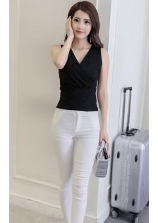 JNS105 Casual-Top white,black $12.36 18XXXX4252124-SD1LVAF13-B
