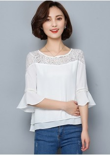 JNS1124 Casual-Blouse white,red,green,black $15.70 33XXXX4077062-LA1LVE48