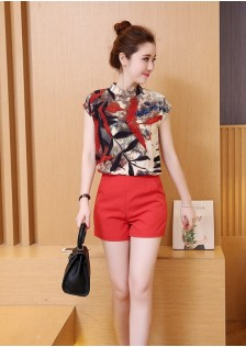 GSS3906 Casual-Top+Shorts red,black $16.14 35XXXX4256083-NU3LV337