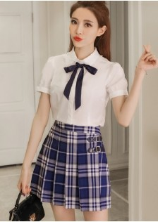 GSS1056 Casual-Top+SKirt