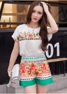 GSS9063 Casual-Top+Shorts