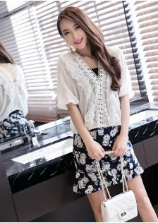 GSS927 Casual-Top+Skirt