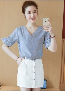 GSS8809 Casual-Top+Skirt