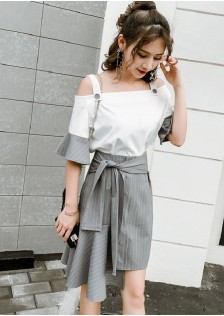 GSS1128 Casual-Top+Skirt