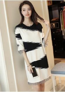 GSS7077 Casual-Blouse white,black $22.20 60XXXX4366333-SD6LV622