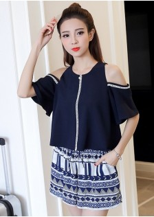 GSS1752 Casual-Top+Shorts *