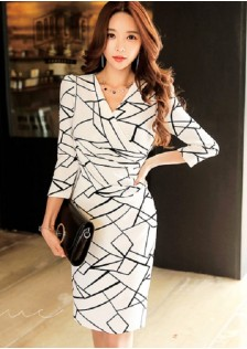 GSS7927 Office-Dress white,black $23.98 68XXXX2752583-LA1LVE49-A