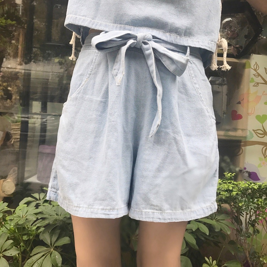 GSS8075 Denim-Top+Shorts*