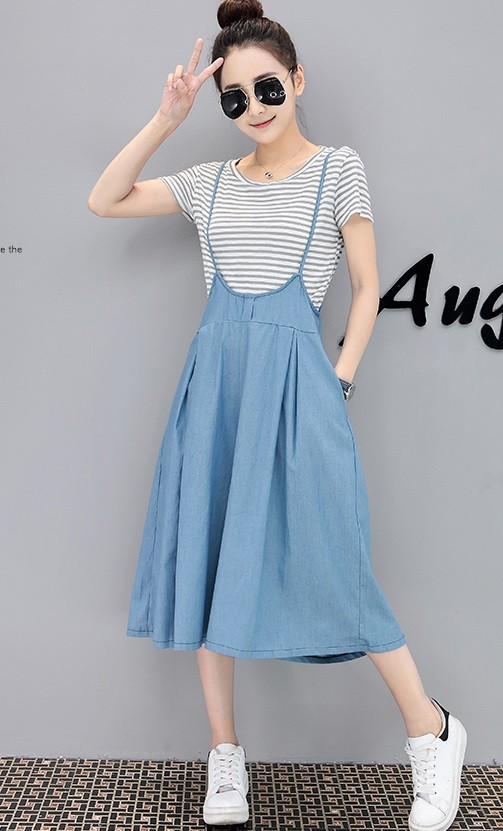 GSS8170 Denim-2pcs-Overall *