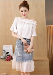 GSS0045 Casual-Top+Skirt *
