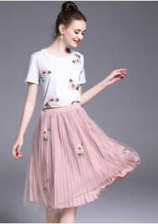 GSS1098 Casual-Top+Skirt*