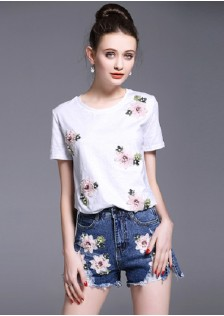 GSS3354 Casual-Top+Shorts*