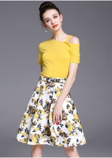 GSS3227 Casual-Top+Skirt*