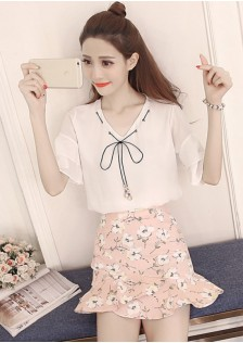 GSS8828 Casual-Top+Skirt *