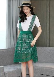 GSS2026 Casual-2pcs-Dress *
