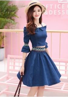 GSS0816 Denim-Top+Skirt *