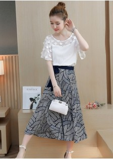 GSS9895 Casual-Top+Skirt*