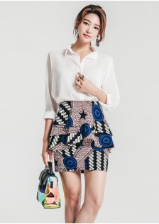 GSS7435 Casual-Top+Skirt *
