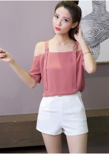 GSS8020 Casual-Blouse pink,white $15.64 26XXXX5080493-NU1LV109-F
