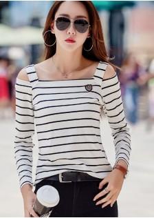 GSS151 Casual-Blouse black,orange,yellow,white-stripe,black-stripe $15.42 25XXXX5896202-SD1LVCF19