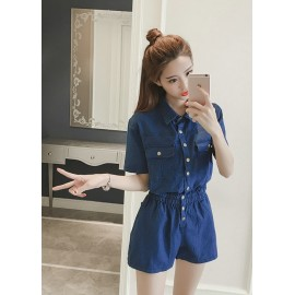 GSS865 Denim-Romper.