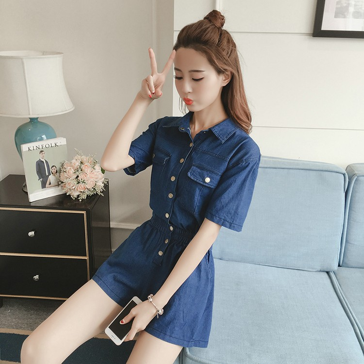 GSS865 Denim-Romper*