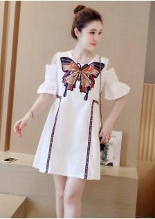 GSS9863 Off-Shoulder-Dress white,blue $17.74 35XXXX3955302-NU3LV341