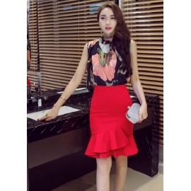 GSS16701X Top+Skirt .***
