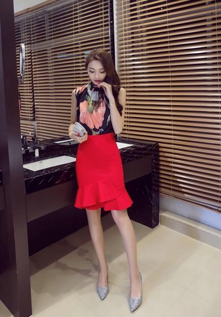 GSS16701X Top+Skirt *