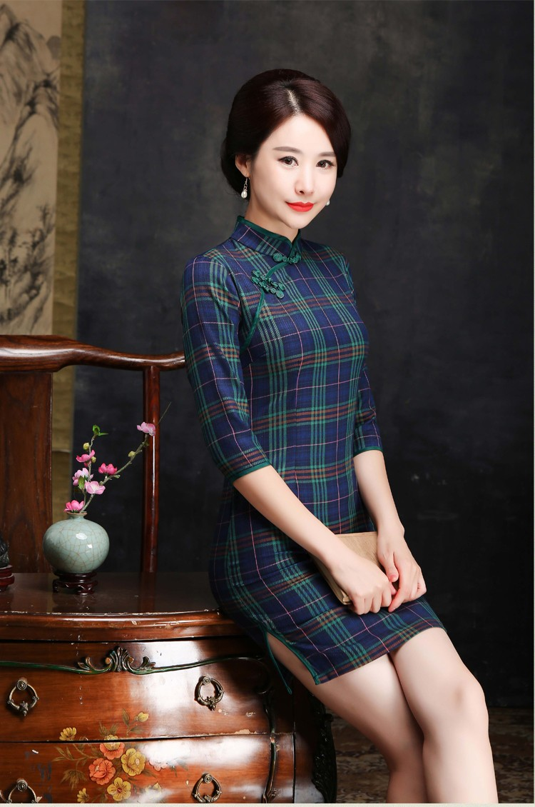 GSS1152 Cheongsam green,purple $21.08 50XXXX5357596-BA5LV518