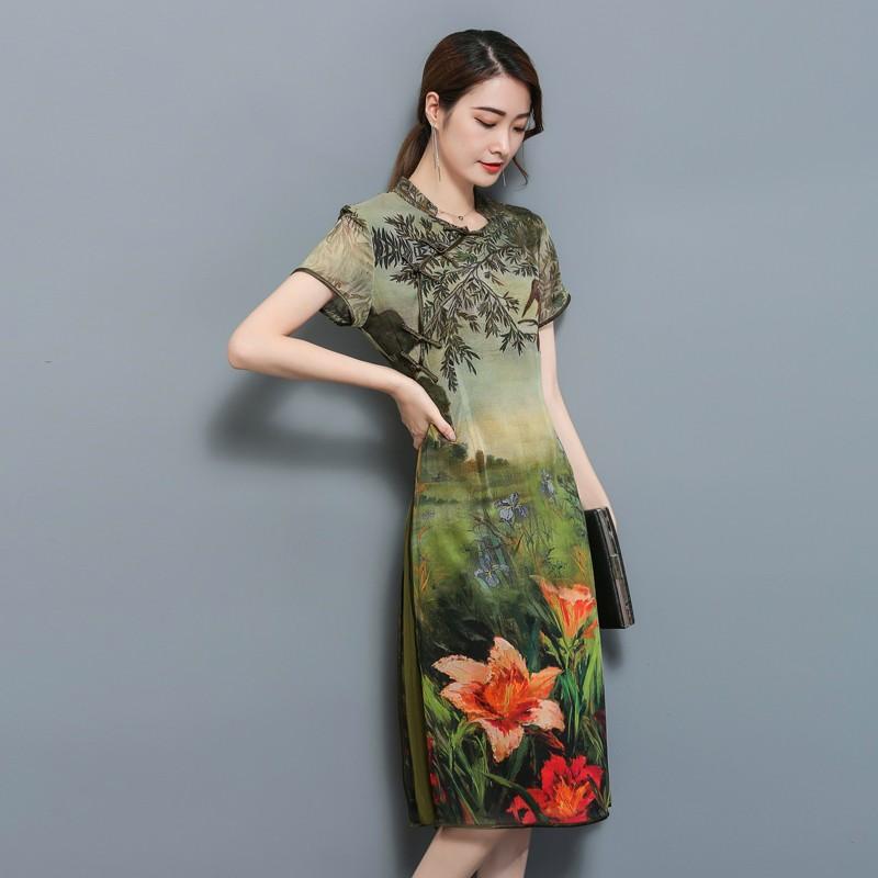 GSS1776 Big-Cheongsam green $25.08 68XXXX6954384-LA2LVB18-F