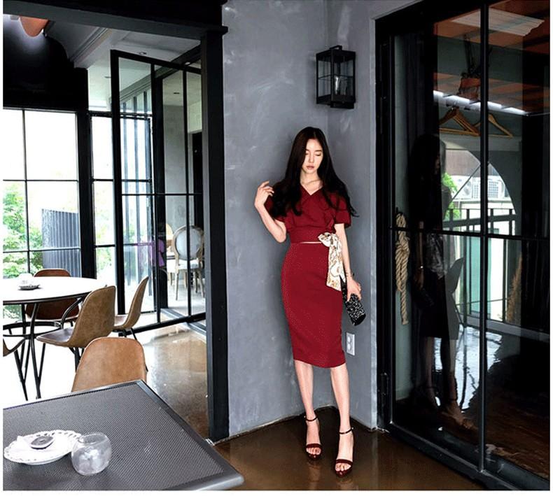 GSS9070 Top+Skirt red,blue $24.41 65XXXX5473116-SD5LV511-B