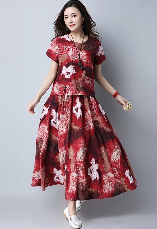 GSS5338X Cheongsam-Top+Skirt*