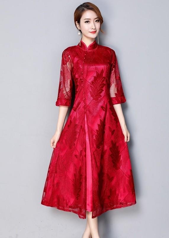 GSS3891 Cheongsam red $22.19 55XXXX7403505-LA1LVE01