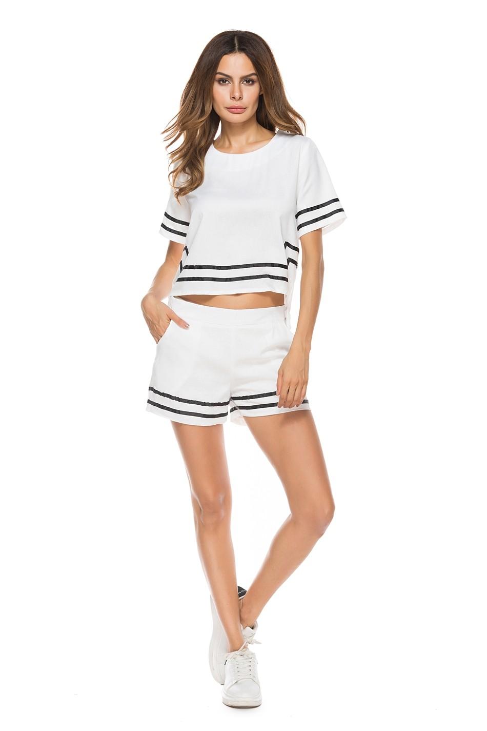 GSS8525 Top+Shorts black,white $21.08 50XXXX5535908-SD5LV504-D