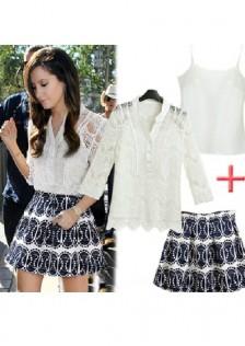 GSS6195X 3pcs-Top+Skirt*